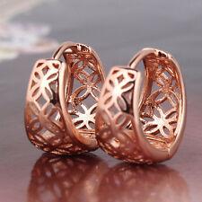 Premier Designs 9K Rose Gold Filed Filigree Hoop Earrings,F2451