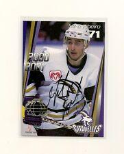 2000-01 Quebec Citadelles Mike Ribeiro Autograph Card 49/100