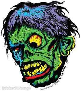 Shock! Monster Head Sticker Decal Ben Von Strawn BV29