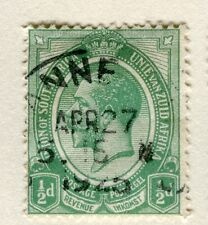 SOUTH AFRICA;  1913-24 early GV issue fine used 1/2d. value