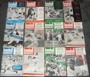 Vintage 1970 Baseball Digest Magazine, Complete Year Set, January-December