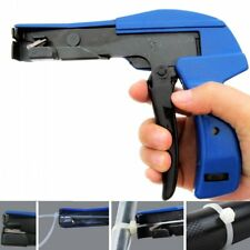 Blue Nylon Cable Tie Gun Installation Tensioning Fastener Plastic Zip Cutting