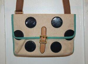 FOSSIL Multi-Color Cross Body Bag Purse Canvas Polka Dot SL4151