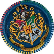 HARRY POTTER Hogwarts Houses SMALL PAPER PLATES (8) ~ Birthday Party Supplies