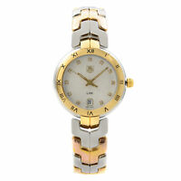 TAG Heuer Link Steel 18k Yellow Gold Diamond Guilloche Watch WAT1350.BB0957