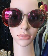 cfc30d4a80b Linda Farrow  Mathew Williamson Sunglasses Large Wire Frame Pink To Yellow  Lens