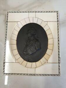 antique basalt framed portrait of lord nelson