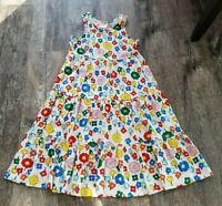 Girls HANNA ANDERSSON Floral White w/ Flowers Twirl Tank DRESS Sz 150 US 12