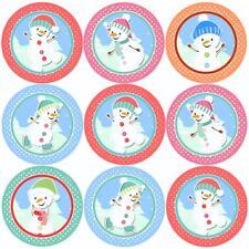 144 Snowman Magic 30mm Children's Christmas Reward Stickers - Parents, Teachers