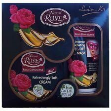 Set regalo Natural Rose Ladies Kit,crema e maschera viso