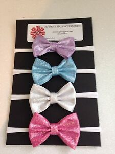 Baby Super Soft Headbands for newborn to adult  Laser printed faux leather bows