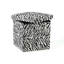 Zebra Folding Storage Ottoman