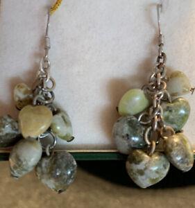 Irish Connemara Marble Heart Shape Dangle Earrings by J. C. Walsh & Sons