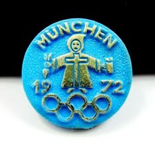 MUNICH 1972 OLYMPIC GAMES SYMBOL YOUNG MONK PLASTIC PIN AUTHENTIC