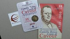 2 euro Italie 2010 ffdc UNC coffret Camillo Benso CAVOUR Italia Italien Italy