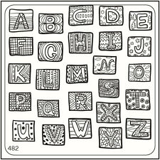MoYou Nail Fashion Stamping Nail Art Image Plate 482 Trendy Style Alphabet