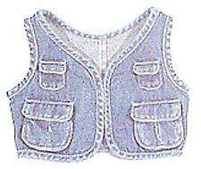 Jeanssportweste für Teddbären jeansblau  Gr. XS