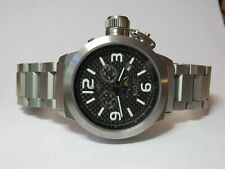 NICOLET CARBON FIBER MOONPHASE CANTEEN CHRONOGRAPH WATCH NT322074 COMPLETE w/BOX