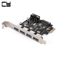 USA 4 Ports PCI-E to USB 3.0 HUB PCI Express Expansion Card Adapter 5Gbps