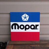 MOPAR Chrysler Metal Sign vintage logo Mechanic garage Shop 12x12 50106