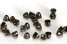 Tungsten Coneheads / Black Nickel size Med (5x4mm) - Qty 25 Cone Head Fly Tying