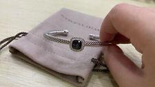 David Yurman Sterling Silver 4mm Classic Cable Black Onyx Bracelet