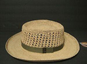 SCALA Deluxe raffia straw GAMBLER GOLF Hat Size SMALL / MEDIUM