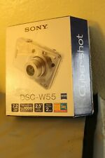 NEW (Open Box) SONY DSC-W55 Digital Camera. Zeiss. 7.2mp (With Micro SD Adapter)