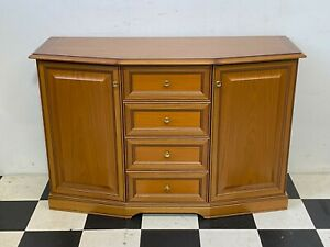Bath Cabinets Caxton antique style walnut finish four drawer sideboard -Delivery