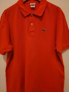HANDSOME! Men's Lacoste Orange Short Sleeve Shirt Size 7