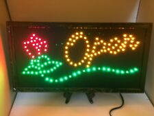 Open Sign W/Rose Led Light Sign Ultra Bright For Business