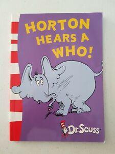 Book - Yellow Back Dr Seuss Horton Hears A Who! 2004 SC