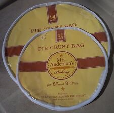 "HIC Mrs. Anderson's 11"" + 14"" inch pie crust maker Bag SET"
