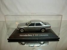 HERPA MERCEDES BENZ E 320 LIMOUSINE - METALLIC  SILVER 1:43 - EXCELLENT IN BOX