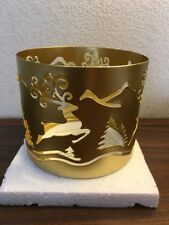 Avon Festive Deer Christmas Holiday Candle Sleeve Fits 3 Wick & Jar Candles
