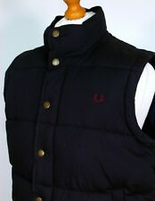 "Fred Perry | Navy Quilted Cotton Gilet - L|XL|46"" - Scooter Casuals Terraces"