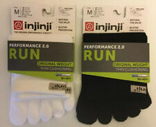 Injinii Performance Run Socks Cool Max Toe Splay Lot Of 2 Black/White Size M