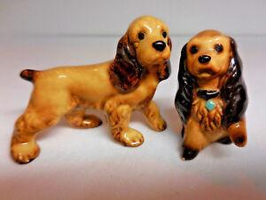 Vintage Hagen Renaker Cocker Spaniels Miniature Animal Figurines