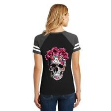 Flower Skull Patches Heat Transfer Stickers Iron On Clothes Appliques DIY Decor