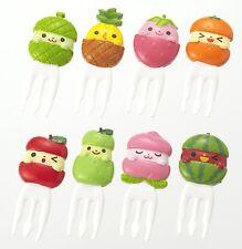 Torune Cute fruit friends food picks forks for Bento Box Lunch Box (8c btm-1423)