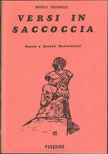 VERSI IN SACCOCCIA - POESIE E SONETTI ROMANESCHI - MICHELE CECCARELLI - PASQUINO