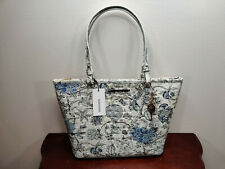 NWT New Brahmin Handbag Medium Asher Tote in Blue Jay Melbourne Style