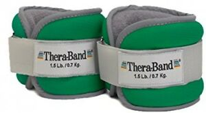 TheraBand Comfort Fit Ankle and Wrist Cuff Wrap Walking Weights Set, Adjustable