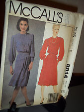 McCalls 8814 Sewing Pattern Misses Dress Size E 12  Uncut Factory Folded