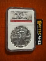 2011 $1 AMERICAN SILVER EAGLE NGC MS69 EARLY RELEASES RED LABEL
