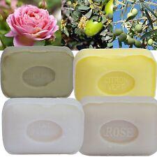 Lot de 4 Savons parfumés huile d'argan, Citron, Rose et au Lait d'Anesse