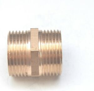 3/4 Male BSP British Hex Pipe Nipple Brass Fitting Fuel, Oil, Gas FasParts Water