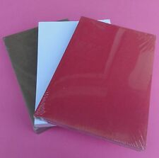 230gsm A4 Leather Grain Binding Back Cover 100's - Red/White/Brown