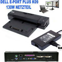 Dell E-Port Plus K09 A002 Dockingstation PR02X 3x USB Port +2 x USB 3.0  AC 130W