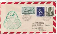 Germany 1956 1st Flight Slogan Cancel Airmail Stamps Cover to Brasil Ref 25866